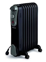 radiador electrico negro